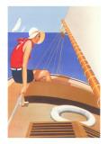 Woman in Sailboat Prints