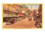 Church Street, Geschäftsviertel, Burlington, Vermont Kunst