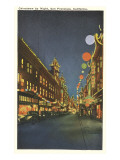 Night, Chinatown, San Francisco, California Posters