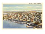 Aerial View of Seattle, Washington Prints