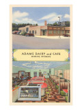 Adams Dairy and Cafe Posters