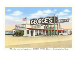 George's Gas Station, Cardiff by the Sea, California Print