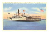 Excursion Steamer on Lake Champlain, Vermont Art