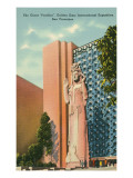 Pacifica Statue at San Francisco World's Fair Posters