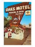 Oaks Vintage Motel Print