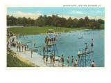 Swimming Pool, Byrd Park, Richmond, Virginia Prints