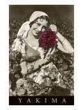 Peasant Woman with Grapes, Yakima, Washington Prints
