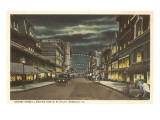 Night, Granby Street, Norfolk, Virginia Posters