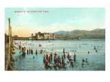 Bathers in the Great Salt Lake, Utah Posters