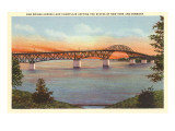 Bridge over Lake Champlain, Vermont Poster