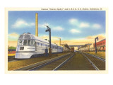 Denver Zephyr Train at Station Posters