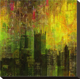 Cityzart II Stretched Canvas Print