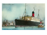 Cunard White Star, Old Ocean Liner Prints