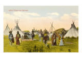 Indian Village near Spokane, Washington Posters