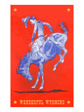 Wonderful Wyoming, Bucking Bronco Posters