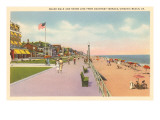 Boardwalk and Beach, Virginia Beach, Virginia Print