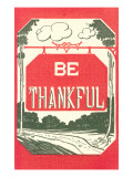 Be Thankful Art