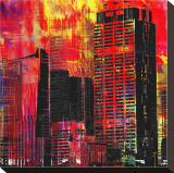 Cityzart III Stretched Canvas Print