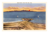 Sunset Beach, Great Salt Lake, Utah Prints