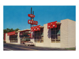 Tiny's Motel Exterior with Red Sign Prints