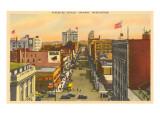 Riverside Avenue, Spokane, Washington Poster