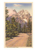 Glacier Covered Tetons, Wyoming Posters