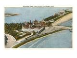 Aerial View of Hotel del Coronado, San Diego, California Print