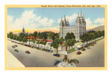 Temple Block, Salt Lake City, Utah Prints
