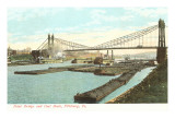 Point Bridge and Coal Boats, Pittsburgh, Pennsylvania Art