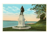 John Smith Statue, Jamestown, Virginia Poster