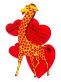 Cartoon Giraffe, Valentine Posters