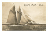 Gaff-Rigged Schooner, Newport, Rhode Island Prints