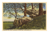 Meditation Rock, Fredericksburg, Virginia Posters