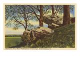 Meditation Rock, Fredericksburg, Virginia Posters