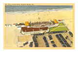 Aerial View of Surf Club, Virginia Beach, Virginia Art