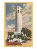 Coit Tower, Telegraph Hill, San Francisco, California Posters