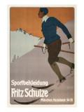 Advertisement for Sports Clothing, Skier Poster