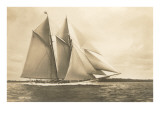 Gaff-Rigged Schooner with Multiple Jibs Art