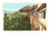 Aussicht der Königin, Alhambra, Granada, Spanien Poster