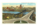 View over Pittsburgh, Pennsylvania Posters