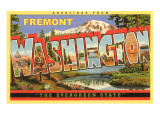 Greetings from Fremont, Washington Print