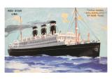 Ocean Liner Red Star Line Belgenland Posters