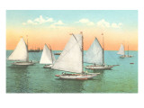 Vintage Sailboats Posters
