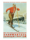 Russian Cross Country Skier Art