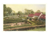 Flower Garden, Mt. Vernon, Virginia Posters