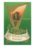 St. Patricks Day, Harp and Blarney Castle Reprodukcje