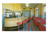 Interior, Retro Diner Prints