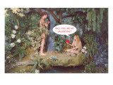 Will You Be My Valentine, Adam and Eve Print