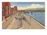Water Front Boulevard, Pittsburgh, Pennsylvania Print