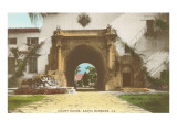 Arch at Courthouse, Santa Barbara, California Prints